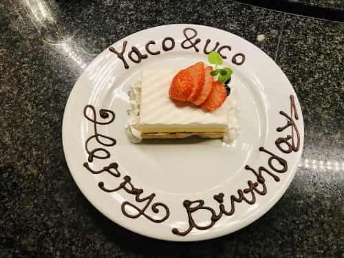 記念のケーキ