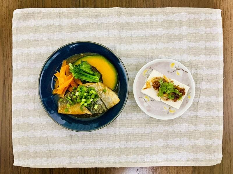 さばのみぞれ煮&さっぱり豆腐